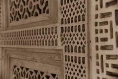 传统阿拉伯房子格子细节 免版税库存照片