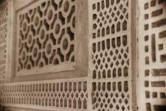 传统阿拉伯房子格子细节 免版税库存图片