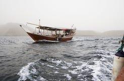 传统阿拉伯语小船Dow 库存图片