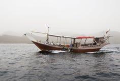 传统阿拉伯语小船Dow 库存照片
