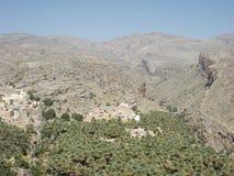 传统阿曼村庄,阿曼 免版税库存照片