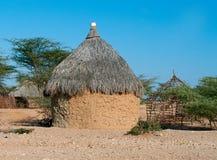 传统非洲小屋 免版税图库摄影
