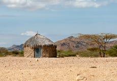 传统非洲小屋 免版税库存照片