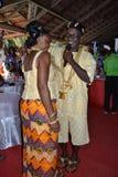 传统非洲的礼服 免版税库存图片