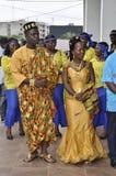 传统非洲的礼服 库存照片