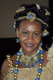 传统非洲的礼服 免版税图库摄影