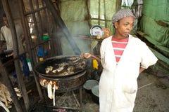 传统非洲餐馆 免版税库存照片