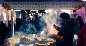 传统韩国街道食物在韩国 免版税图库摄影