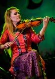 传统音乐家在IMEX 2012年(Indone执行 免版税库存照片