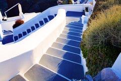 传统风格楼梯 希腊santorini 库存图片