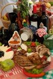 传统食物和装饰 图库摄影