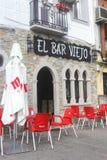 传统餐馆在竞技场de圣佩德罗火山, Spai 库存图片