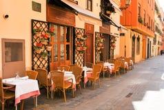 传统餐馆在西班牙 免版税图库摄影
