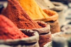 传统香料市场在印度 库存图片