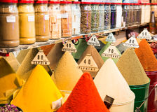 传统香料市场 免版税库存照片