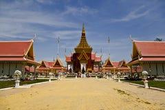 传统高棉建筑学在Cambodias Phnom  图库摄影