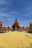传统高棉建筑学在Cambodias Phnom  库存图片