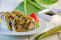 传统鳗鱼食物日本的寿司 库存照片