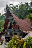 传统batak的房子 免版税库存图片