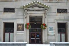 传统cristmass装饰在波士顿, 2016年12月11日的美国 免版税库存图片