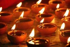 传统diwali的闪亮指示 免版税库存照片