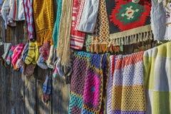 传统hancraft钩针编织的织品 免版税库存照片