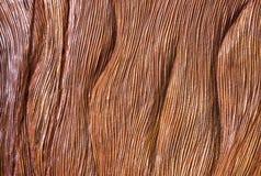 传统Handicarved布朗木头背景 库存图片