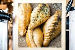 传统karaite肉馅饼kibin 库存照片