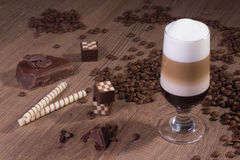 传统Machiato咖啡 库存图片