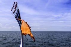 传统Maledivian小船前面 免版税库存图片