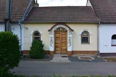 传统Moravian房子,捷克 免版税库存照片