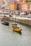 传统rabelo小船 库存照片