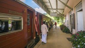 传统ralway驻地在埃拉, Uva省,斯里兰卡 库存照片