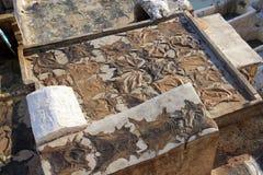 传统tennery和染房在Fes,摩洛哥 库存照片
