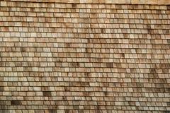 传统Thalands屋顶由木头制成 免版税图库摄影