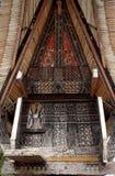 传统torajan房子 库存照片