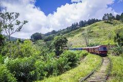 传统tren在埃拉, Uva省,斯里兰卡 库存照片
