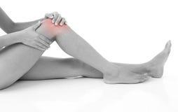 伤害膝盖 免版税库存照片
