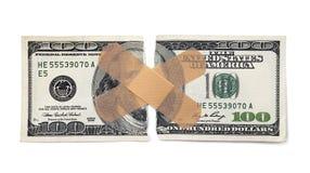 伤害金钱的 库存图片
