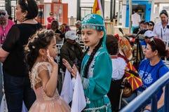 伤残了悟星期艺术和民间传说事件的-土耳其美丽的民间舞蹈 库存图片