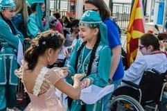 伤残了悟星期艺术和民间传说事件的-土耳其美丽的民间舞蹈 图库摄影