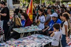 伤残了悟星期艺术和民间舞事件的-土耳其画家 库存图片