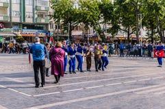 伤残了悟星期艺术和民间舞事件-土耳其 库存图片