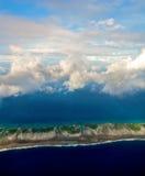 伦吉拉环礁鸟瞰图  图库摄影