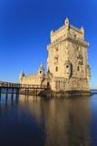 贝伦塔- Torre De贝拉母在里斯本 库存照片