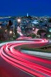 伦巴第, SF,加州光  免版税库存照片