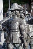 伦布兰特纪念碑细节  库存图片
