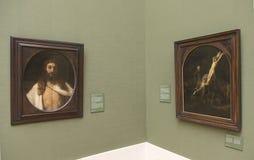 伦布兰特绘画在Alte Pinakothek -慕尼黑,德国 库存照片