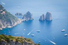 索伦托海岸,意大利 免版税库存照片