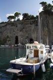 从索伦托港口的小船 库存图片
